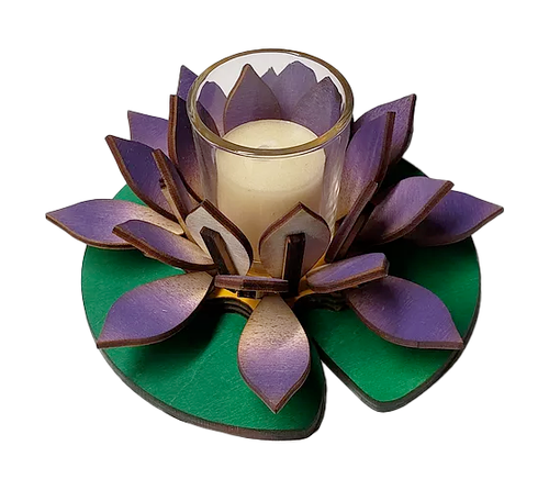 Lotus Lily Purple Votive