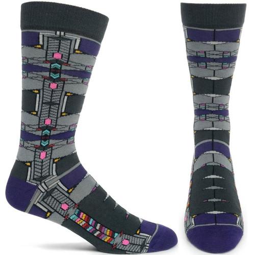 Frank Lloyd Wright Robie House Grey Men's Socks