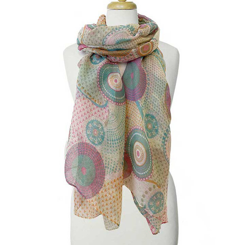 Pastel Colorful Patterns Scarf