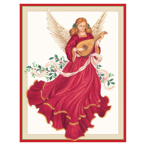 Angel with Lute Holiday Cards