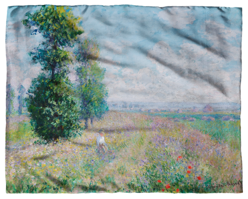 Monet, Meadow with Poplars Scarf
