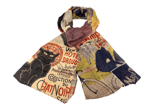 Toulouse Lautrec Collage Scarf