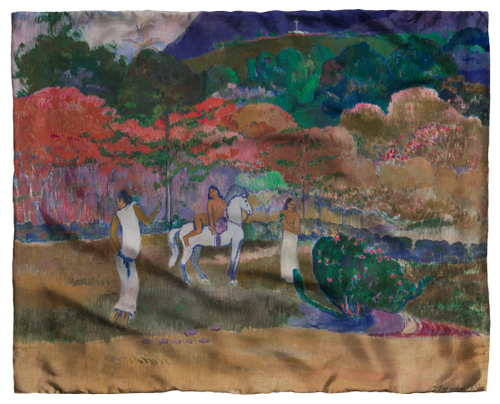 Gauguin, Women and a White Horse Scarf