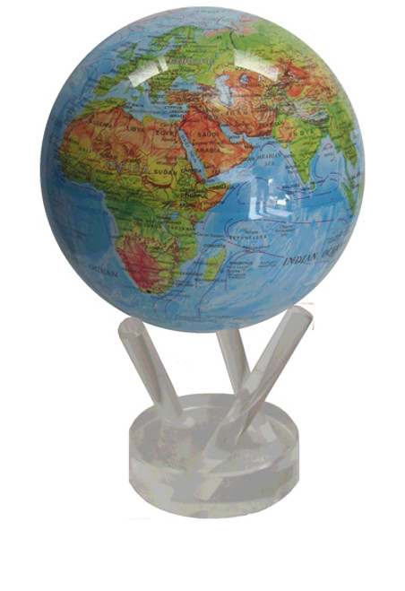 "Blue Relief Map 4.5""Mova Globe"