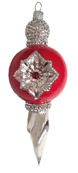 La Neige Red Ornament