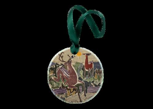Deer on Chocorua Holiday Ornament
