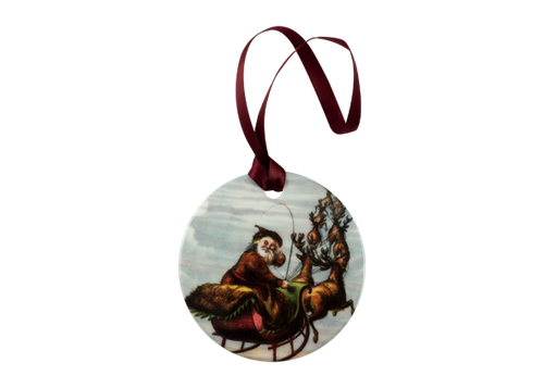 Visit of St. Nicholas Holiday Ornament
