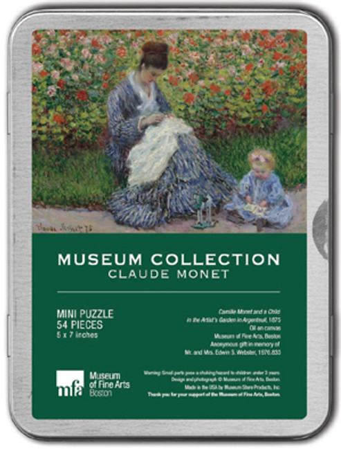 Monet, Camille Monet and Child Puzzle Tin