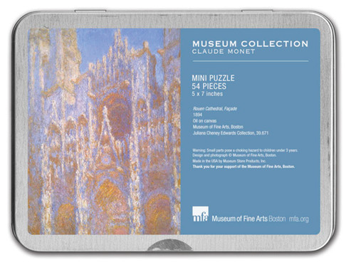 Monet, Rouen Cathedral Puzzle Tin