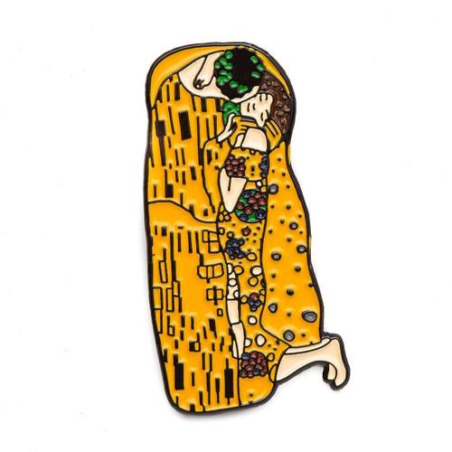 "Gustav Klimt ""The Kiss"" Enamel Pin"