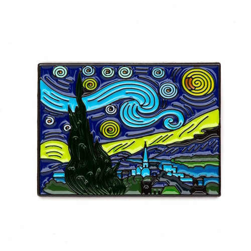 "Vincent van Gogh ""The Starry Night"" Enamel Pin"