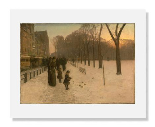 Childe Hassam, Boston Common at Twilight 8 x 10 Matted Print