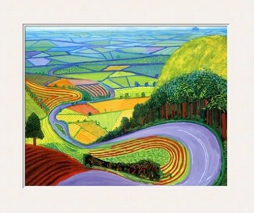David Hockney, Garrowby Hill 8 x 10 Matted Print