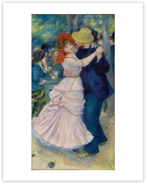 Renoir, Dance at Bougival 11 x 14 Matted Print