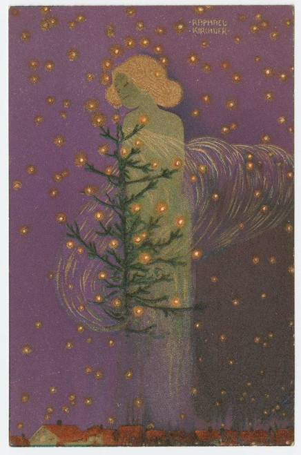 MFA Angel with Christmas Tree Holiday Cards