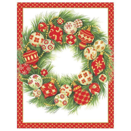 Ornament Wreath Holiday Cards
