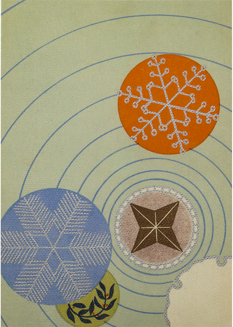 MFA Snow Crystal Motifs Holiday Cards