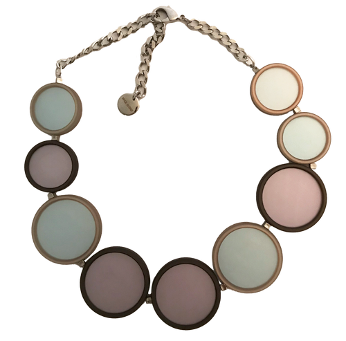 Etta Choker in Lilac and Brown