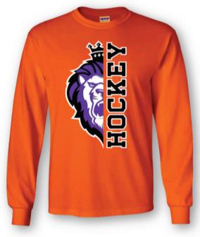 Orange Y half Lion half Hockey