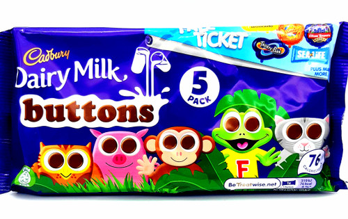 Cadbury Buttons 5 Pack 70g