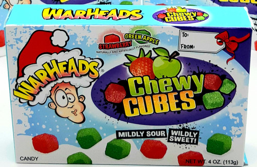 Warheads Sour Cubes Christmas