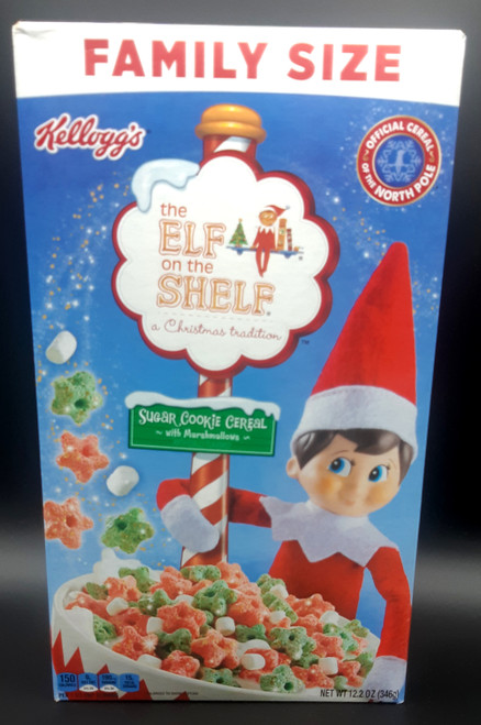Kellogg's Elf on The Shelf Sugar Cookie Cereal with Marshmallow 12.2 oz