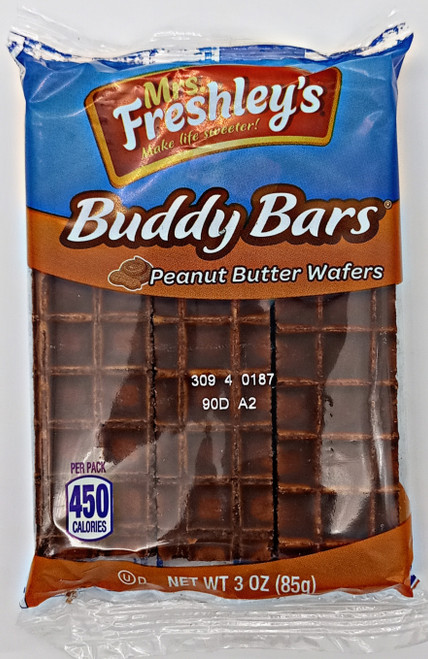 Mrs Freshley - Buddy Bar PB Wafers