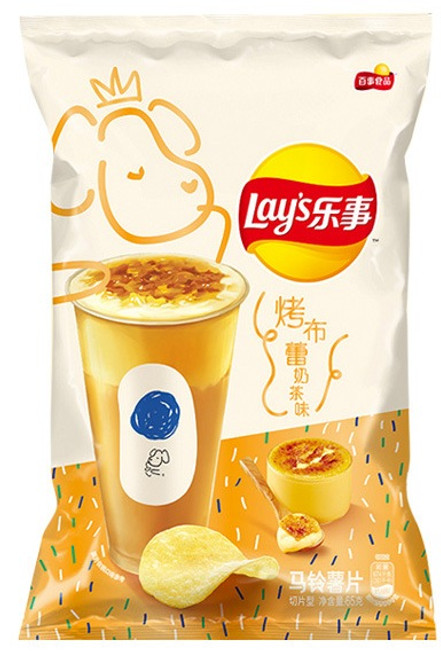 LAY'S Crème Brulee Bubble Tea CHips