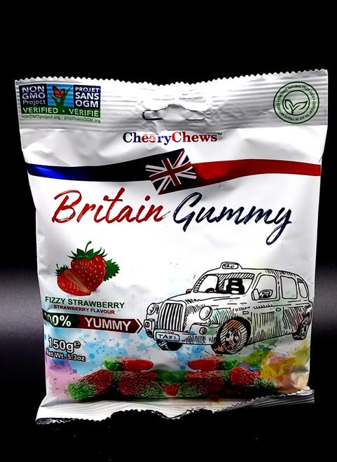 Britain Gummy Fizzy Strawberry 150g