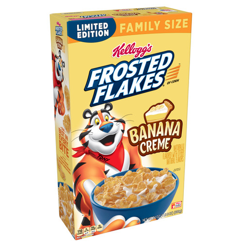Kellogg's Frosted Flakes Cereal, Banana Creme, 24 Oz