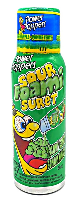 Power Popper Sour Foami Suret - Green Apple