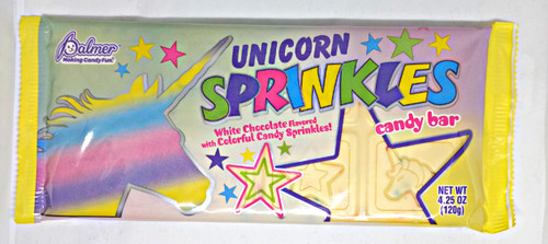 Unicorn Sprinkles White Chocolate Bar