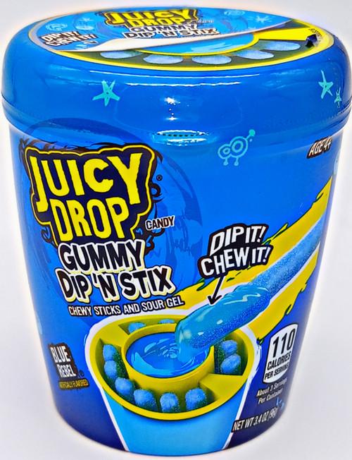 Topps Juicy Drop Gummy Dip n Stix Blue Rebel