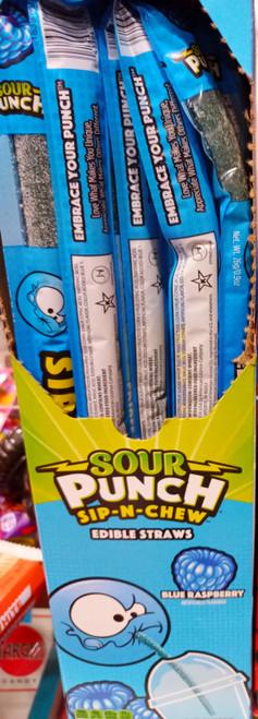 Sour Punch Sip-n-Chew Blue Raspberry Straws