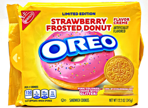 Nabisco Oreo Strawberry Frosted cookie