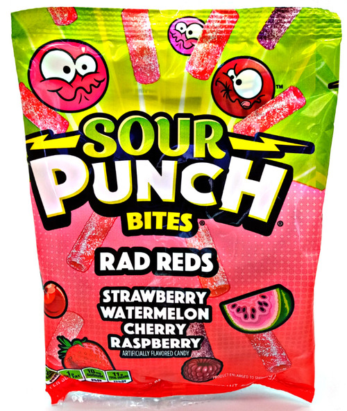 Sour Punch Bites Rad Reds