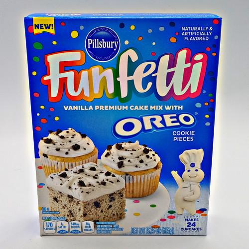 Funfetti Vanilla Premium Cake Mix with Oreo Pieces
