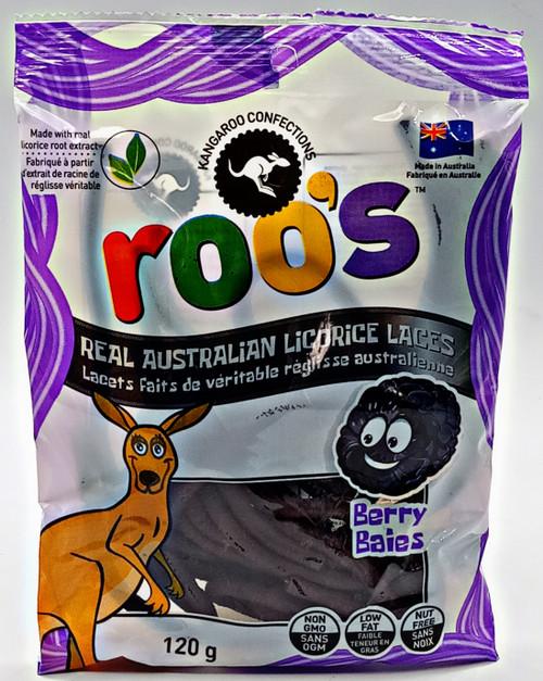 Roo's Australian Licorice Laces - Berry