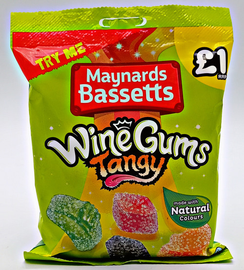 Maynards Bassetts Wine Gums Tangy