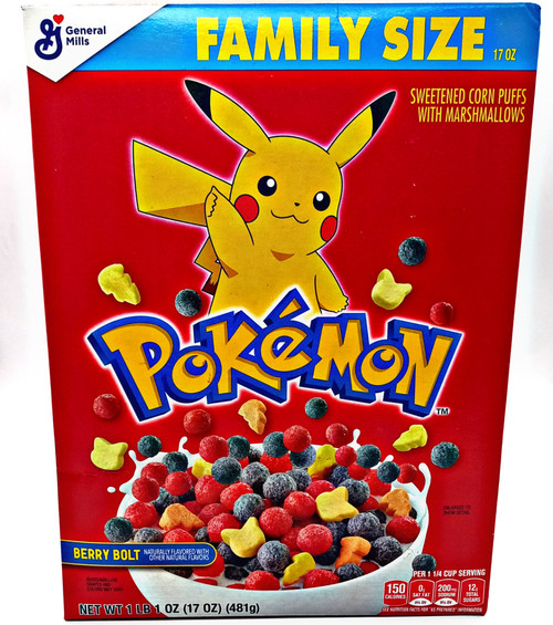 Pokemon Berry Bolt Cereal Family Size
