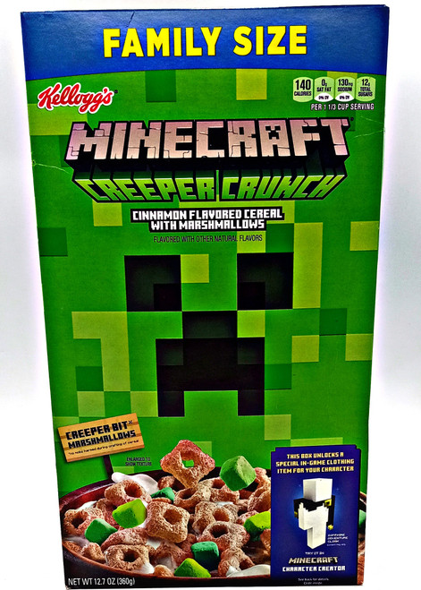 Minecraft Creeper Crunch - Cinnamon with Marshmallows Cereal