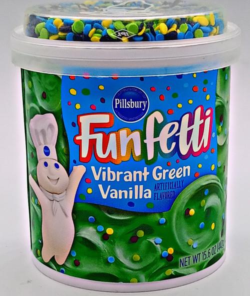 Funfetti Cake Icing W Sprinkles Vibrant Green