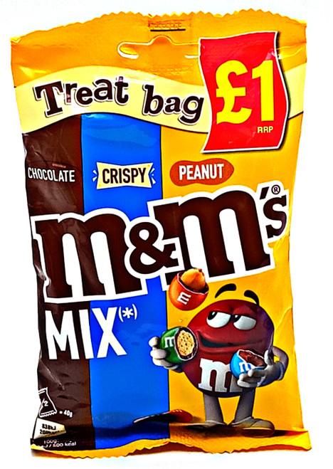 M&M's Mix Treat Bag - Chocolate, Crispy, Peanut
