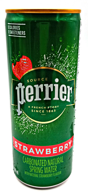 Perrier Strawberry Flavoured Carbonated Natural Spring Water