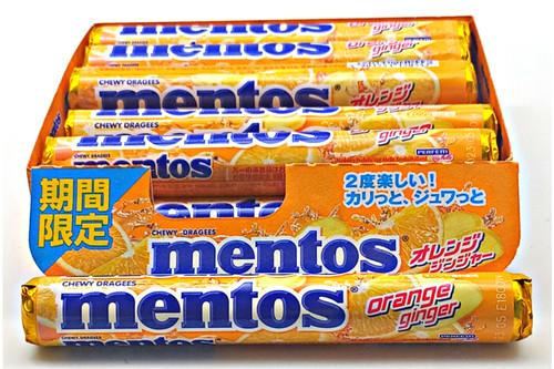 Mentos Fruit Orange Ginger - Japan