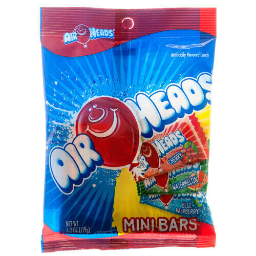 AirHeads Mini Bars - Assorted Flavours 119g  (Bag)
