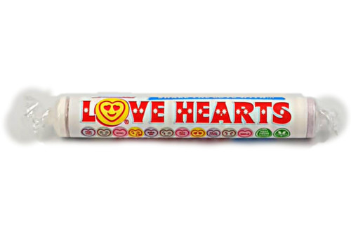 Giant Love Hearts Candy Roll