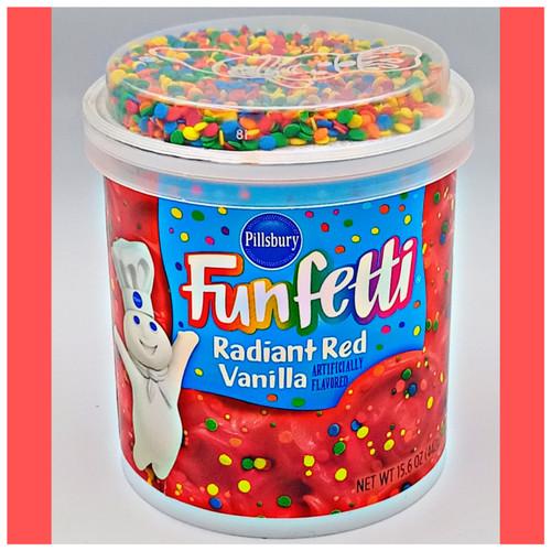 Funfetti Red Radiant  Vanilla Icing
