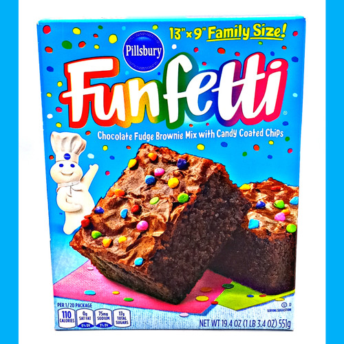 Funfetti Chocolate Fudge Brownie Mix w Candy Coated Chips