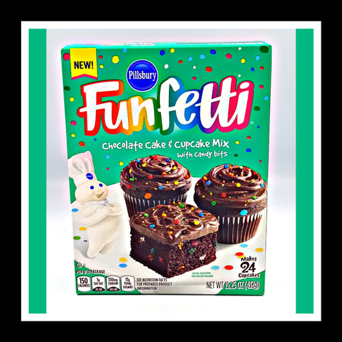 Funfetti Chocolate Cake & Cupcake Mix w Candy Bits